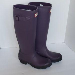 Womens Rainboots Matte Purple Size 5W